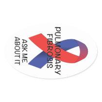 Pulmonary Fibrosis Oval Sticker