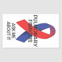 Pulmonary Fibrosis Rectangular Sticker