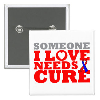 Pulmonary Fibrosis Someone I Love Needs A Cure 2 Inch Square Button