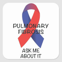Pulmonary Fibrosis Square Sticker