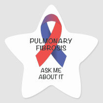 Pulmonary Fibrosis Star Sticker