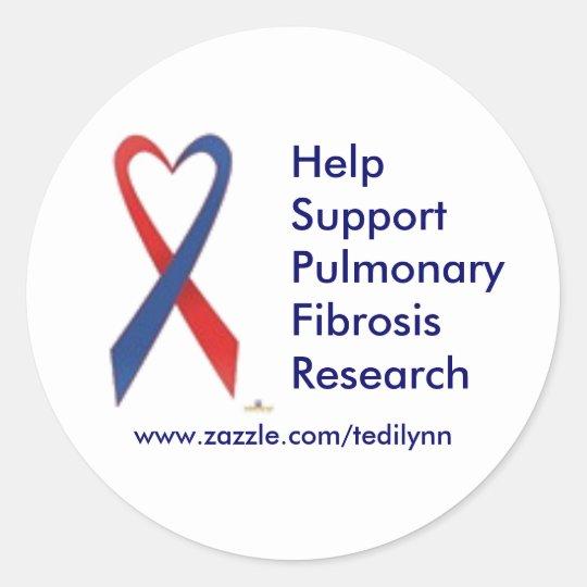 Pulmonary Fibrosis...sticker Classic Round Sticker