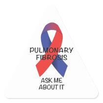 Pulmonary Fibrosis Triangle Sticker