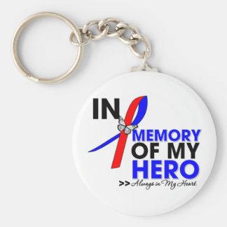 Pulmonary Fibrosis Tribute In Memory of My Hero Basic Round Button Keychain