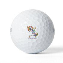 Pulmonary Fibrosis Warrior Unbreakable Golf Balls