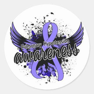 Pulmonary Hypertension Awareness 16 Classic Round Sticker
