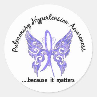 Pulmonary Hypertension Butterfly 6.1 Classic Round Sticker