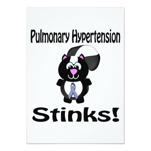 Pulmonary Hypertension Stinks Skunk Awareness 5x7 Paper Invitation Card