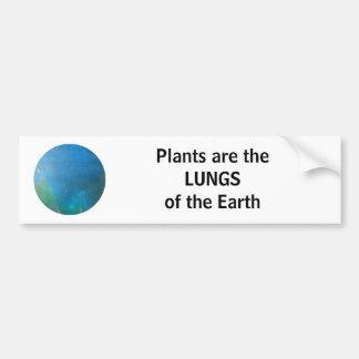 PULMONES de la tierra - pegatina para el parachoqu Pegatina Para Auto