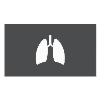Pulmones modernos del pulmonologist del tarjetas de visita