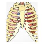 Pulmones y corazón de la caja torácica plantilla de membrete
