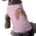Pulmones y corazón de la caja torácica camiseta de perro