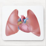 Pulmones y corazón humanos Mousepad Tapetes De Raton