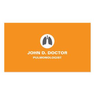 Pulmonology o tarjeta de visita anaranjada del pul