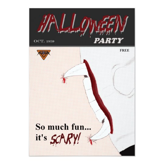 Pulp Comic Book Halloween Party Invitation