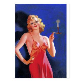 Pulp Detective Femme Fatale Postcard