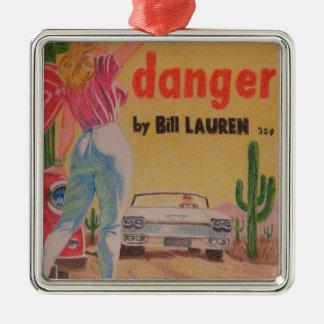 Pulp Fiction colored pencil Metal Ornament