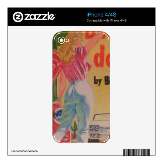 Pulp Fiction colored pencil Skins For The iPhone 4