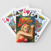 Pulp Magazine Design Detective Pinup Playing Cards