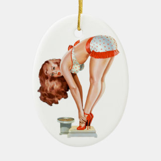 Pulp Pin Up on Scale Christmas Ornaments