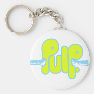 Pulp Products Basic Round Button Keychain