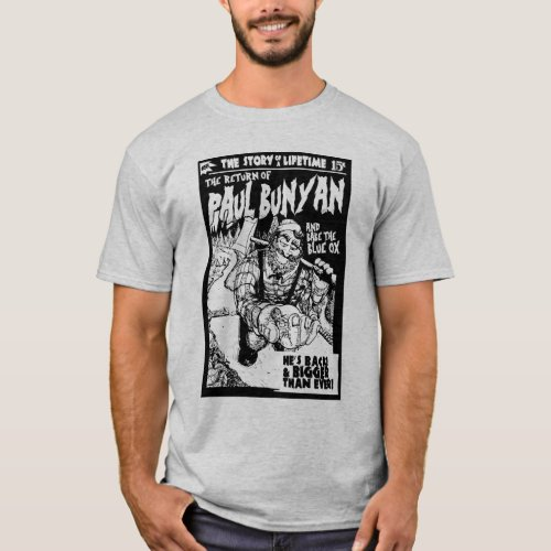 Pulp Themed Paul Bunyan t Shirt