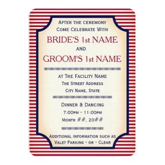 "Púlpito de matón 1904 (colección del boda) invitación 4.5"" x 6.25"""