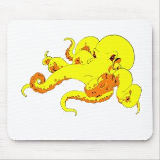Pulpo amarillo alfombrilla de ratón