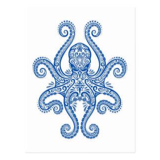 Pulpo azul complejo tarjetas postales