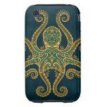 Pulpo azul de oro complejo iPhone 3 tough protector