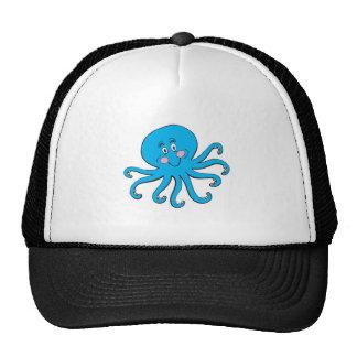 pulpo azul feliz gorras de camionero