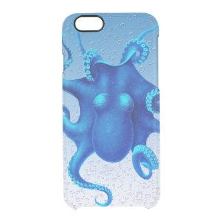 Pulpo azul funda clearly™ deflector para iPhone 6 de uncommon