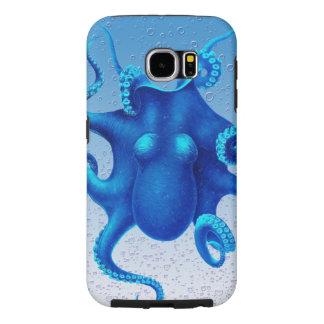 Pulpo azul fundas samsung galaxy s6