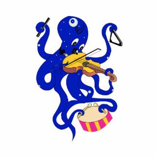 pulpo azul que juega percussion.png múltiple esculturas fotográficas