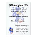 pulpo azul que juega percussion.png múltiple invitación 12,7 x 17,8 cm