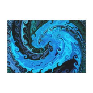 Pulpo bajo lona envuelta extracto del mar impresiones en lona estiradas