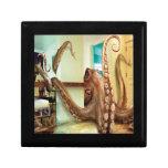 Pulpo casero animal abstracto caja de joyas