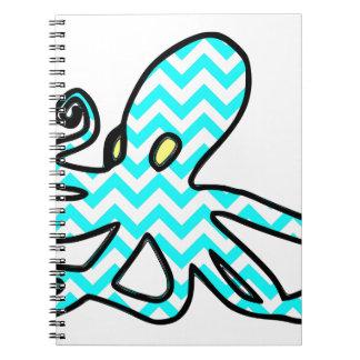 Pulpo Chevron - azul claro Spiral Notebooks