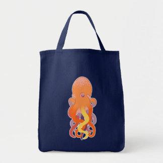 Pulpo colorido bolsa tela para la compra