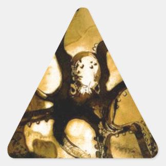 Pulpo con las iniciales V.H. de Victor Hugo Pegatina Triangular
