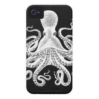 Pulpo de Cthulu Kraken - imagen del Victorian en iPhone 4 Case-Mate Cárcasas