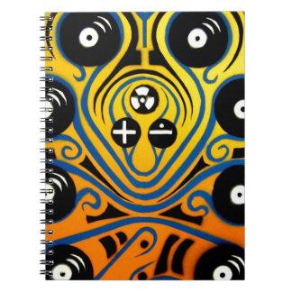 Pulpo de DJ en azul Cuadernos