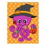 Pulpo de Halloween Tarjeta Postal