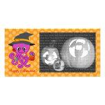 Pulpo de Halloween Tarjetas Fotograficas