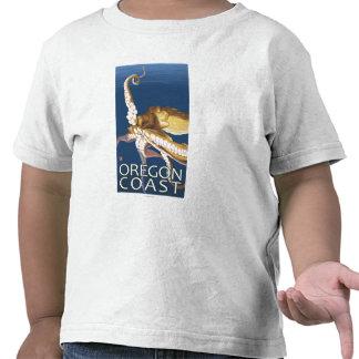 Pulpo de la costa de Oregon Camisetas