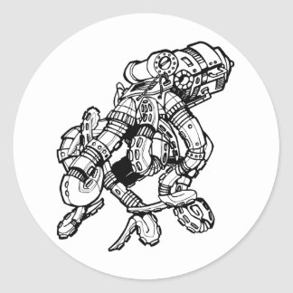Pulpo de Steampunk Etiqueta Redonda