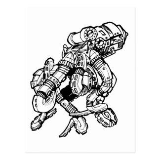 Pulpo de Steampunk Tarjetas Postales