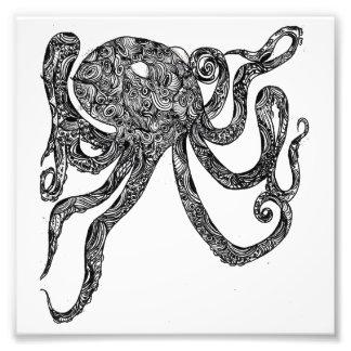 Pulpo de Swirly Impresiones Fotográficas
