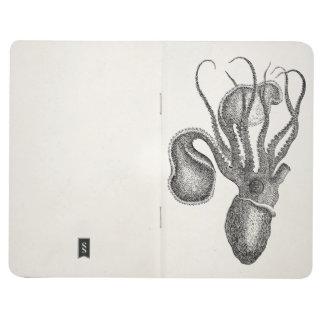 Pulpo del calamar de Agronaut del vintage - Cuadernos
