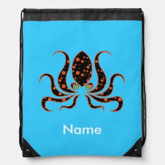 Pulpo del lunar de la mandarina personalizado mochila